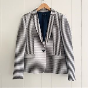 Madewell Single Button Striped Blazer